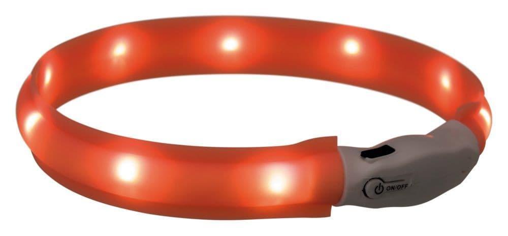 Светящийся ошейник Trixie для собак средних и крупных пород - 50 см