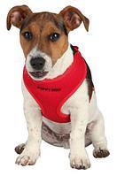 Шлейка Trixie для щенков с поводком (Красная) - 26-34 см