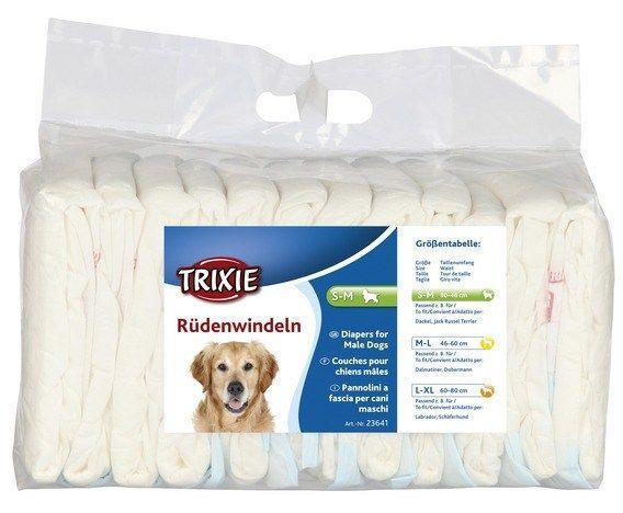 Подгузники для кобелей Trixie с креплениями на поясе - S-M - 1 шт