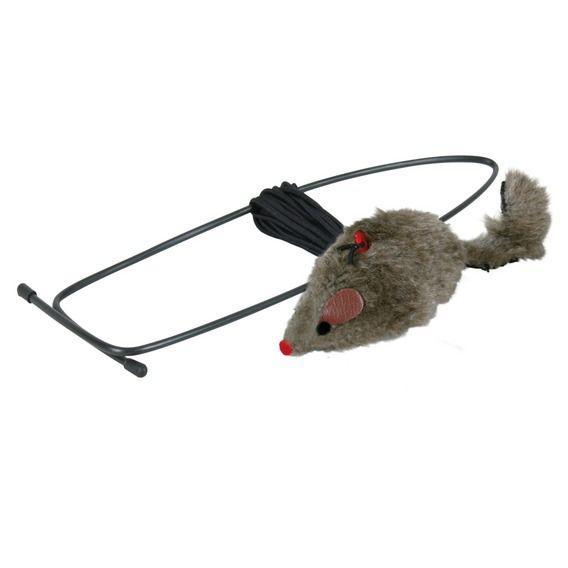 Мышь, крепящящаяся на дверной проем Trixie - 8 см/ 190 см