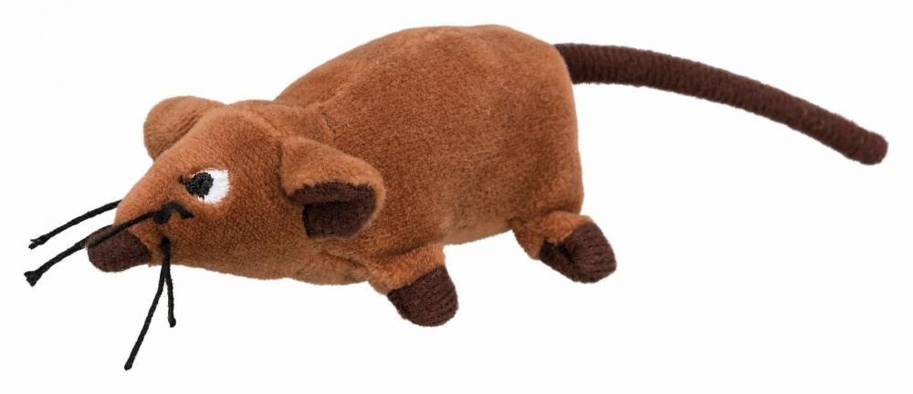 Крыса плюшевая Trixie с кошачьей мятой - 10 см