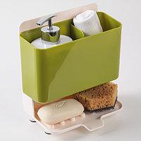 Подставка для ванных и кухонных принадлежностей 19 х 20 см, цвет МИКС
