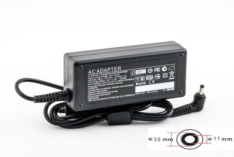Зарядка (сетевой адаптер) PowerPlant для ноутбука ACER 220V, 19V 65W 3.42A (3.0*1.1)