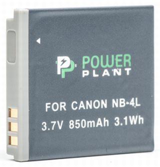 Батарейка (аккумулятор) PowerPlant Canon NB-4L 850mAh