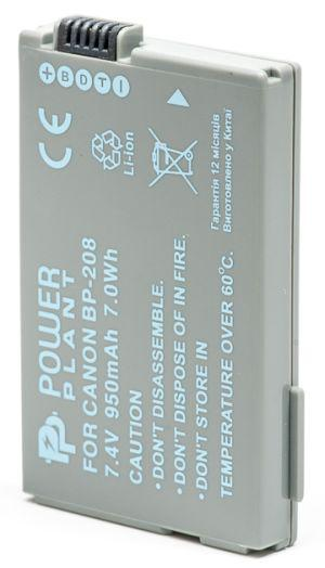 Батарейка (аккумулятор) PowerPlant Canon BP-208 950mAh