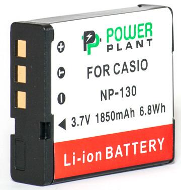 Батарейка (аккумулятор) PowerPlant Casio NP-130 1850mAh