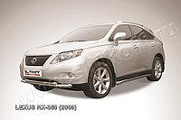 Защита переднего бампера d76+d57 двойная Lexus RX 2009-12