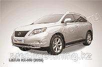Защита переднего бампера d57+d57 двойная Lexus RX 2009-12