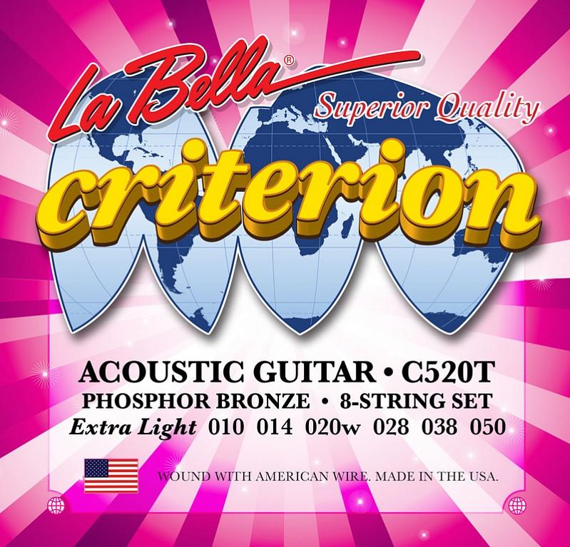 Criterion Комплект струн для акустической гитары 010-050 La Bella C520T