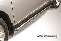 Защита порогов d57 труба с гибами Lexus RX 2009-12