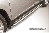 Защита порогов d57 с листом с листом Lexus RX 2009-12