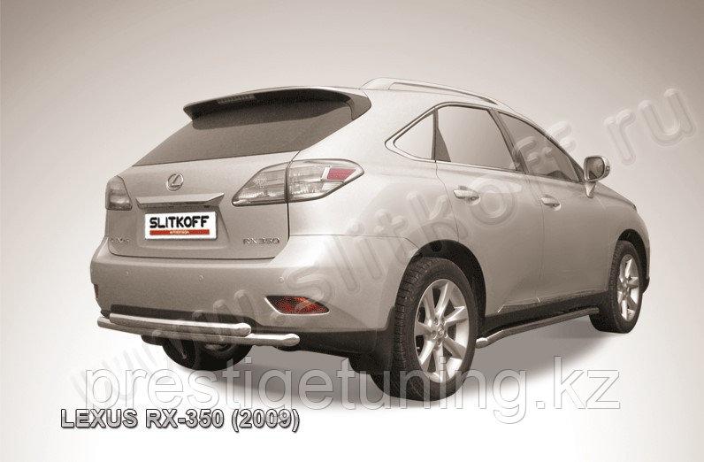 Защита заднего бампера d57+d57 двойная Lexus RX 2009-12