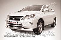 Защита переднего бампера d76+d57 двойная Lexus RX 2012-15