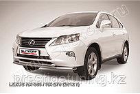 Защита переднего бампера d57+d57 двойная Lexus RX 2012-15