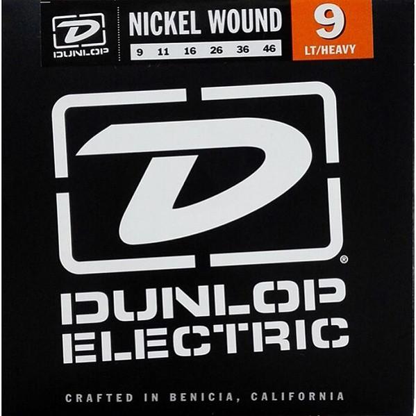 Комплект струн для электрогитары, никелированные, Light/Heavy, 9-46, Dunlop DEN0946