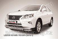 Защита переднего бампера d57+d57 двойная с защитой картера Lexus RX 2012-15
