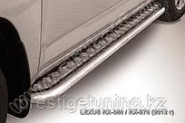 Защита порогов d57 с листом Lexus RX 2012-15