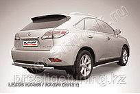 Защита заднего бампера d57+d57 двойная Lexus RX 2012-15