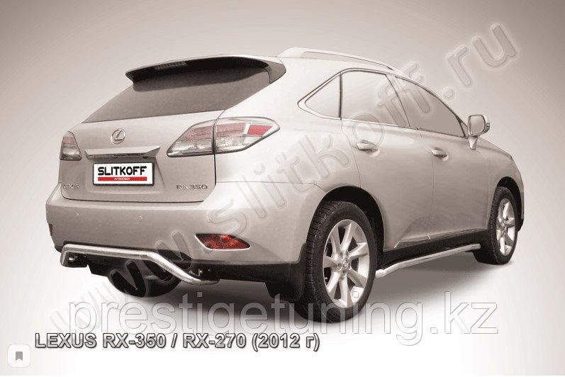 """Защита заднего бампера d57 """"скоба"""" Lexus RX 2012-15"""