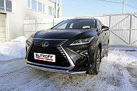 Защита переднего бампера d57+d42 двойная Lexus RX 2015-19
