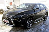 Защита порогов d57 с листом усиленная Lexus RX 2015-19