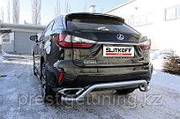 "Защита заднего бампера d57 ""волна"" Lexus RX 2015-19"