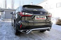 """Защита заднего бампера d57 """"скоба"""" Lexus RX 2015-19"""