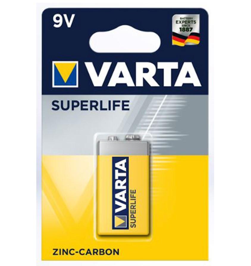 Батарейка VARTA 6F22P Superlife, E-Block, 9 V (1 шт.)