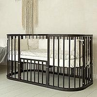 Круглая кроватка-трансформер Incanto Эмили 12 в 1 венге с маятником