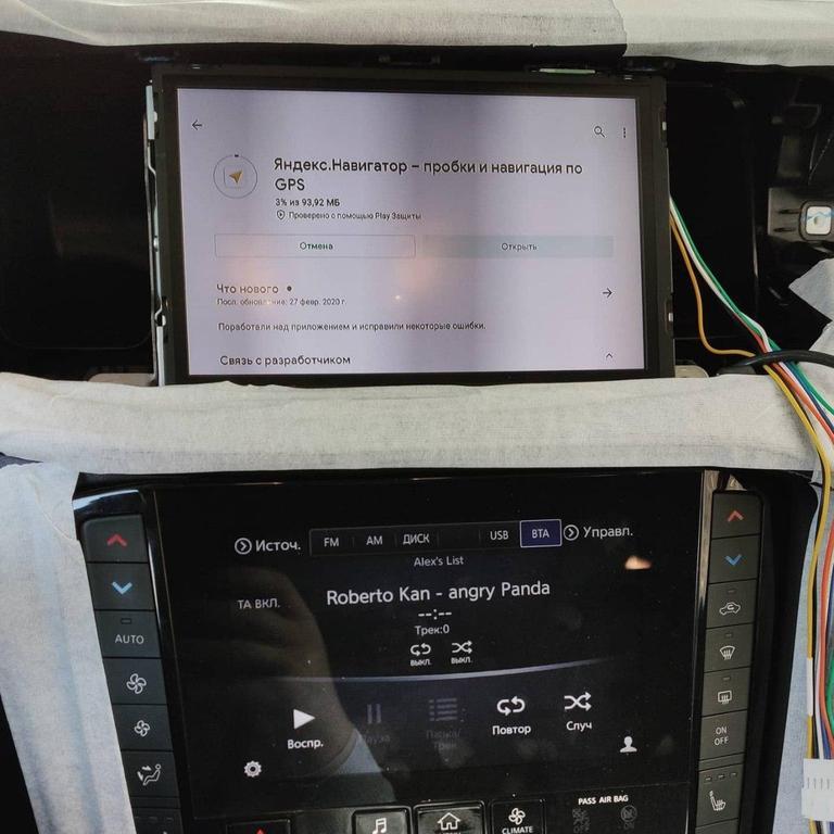 Infiniti QX50 дооснащение штатной магнитолы системой Android