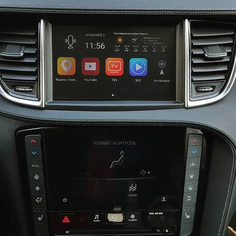 Infiniti QX50 навигационный блок Android дооснащение 1