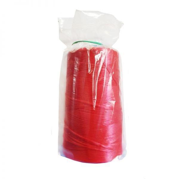 Нитки для мешкозашивочных машин, облегченные, красные, кг