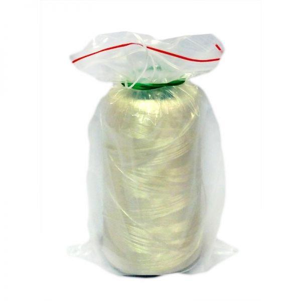 Нитки для мешкозашивочных машин, облегченные, белые, кг
