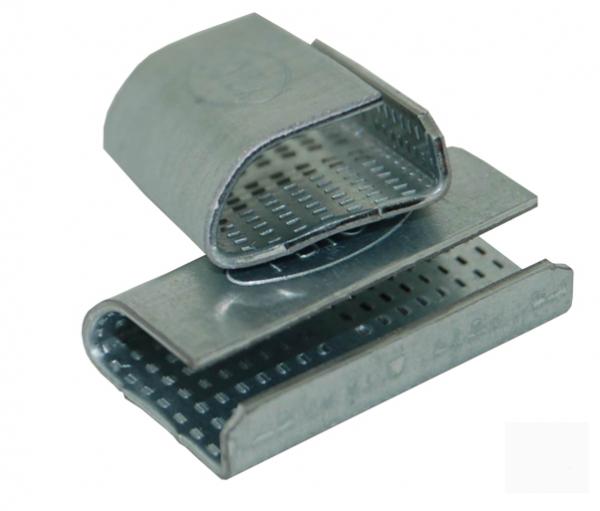 Скрепа металлическая для ленты 19 мм