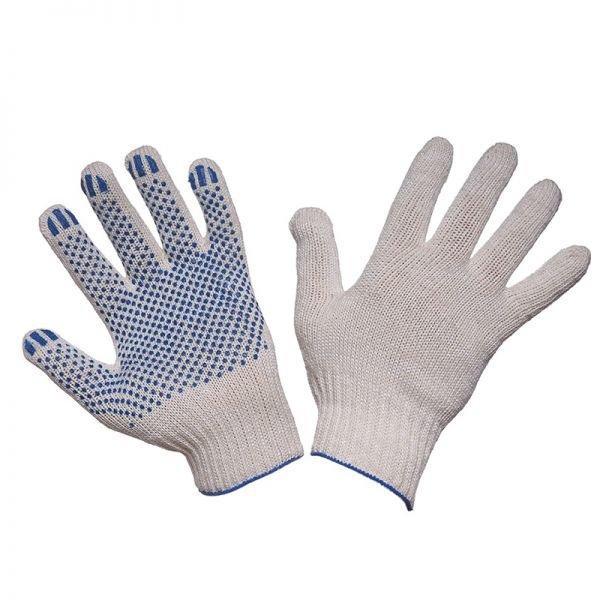 Перчатки х/б с ПВХ 4 нитки