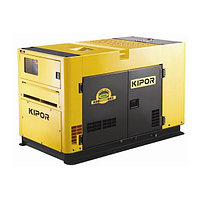 Дизельный генератор в ультра тихом кожухе KIPOR KDE75SS3+KPEC40100DQ52A,желтый