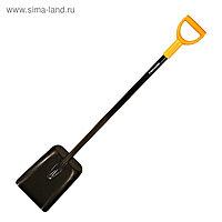 Лопата совковая, стальная, стальной черенок, с ручкой