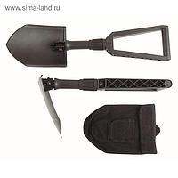 Лопата складная, автомобильная, с рукояткой, коричневая