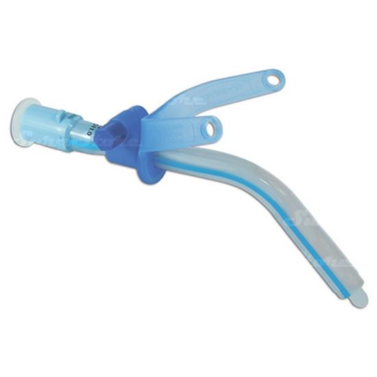 Трахеостомическая трубка без манжеты с регулируемым положением фланца трубки 6,0