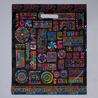 Пакет 'Геометрический орнамент' полиэтиленовый с вырубной ручкой, 38 х 45 см, 60 мкм (комплект из 25 шт.)