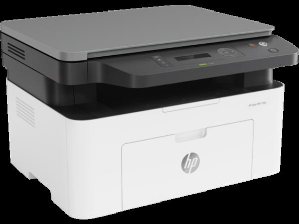 МФУ HP 4ZB82A Laser MFP 135a Printer, A4, печать 1200x1200dpi, копир 600x600dpi, сканер 600x600dpi,