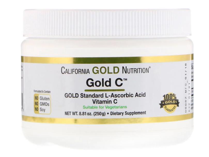 California Gold Nutrition, Порошок Gold C, 250 г (8,81 унции)