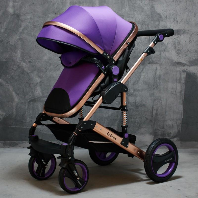 Коляска Belecoo Q-3  2в1 ,фиолетовая