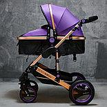 Коляска Belecoo Q-3  2в1 ,фиолетовая, фото 2