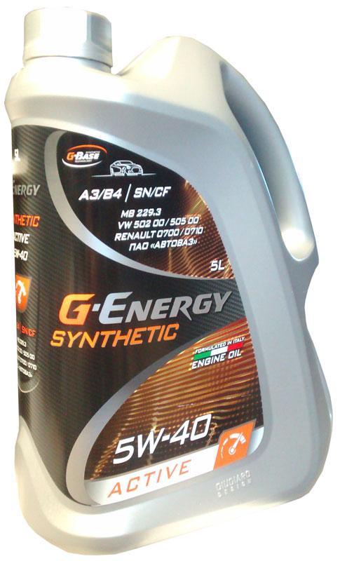 Синтетическое масло G-Energy Syntetic Active 5W-40 5л.