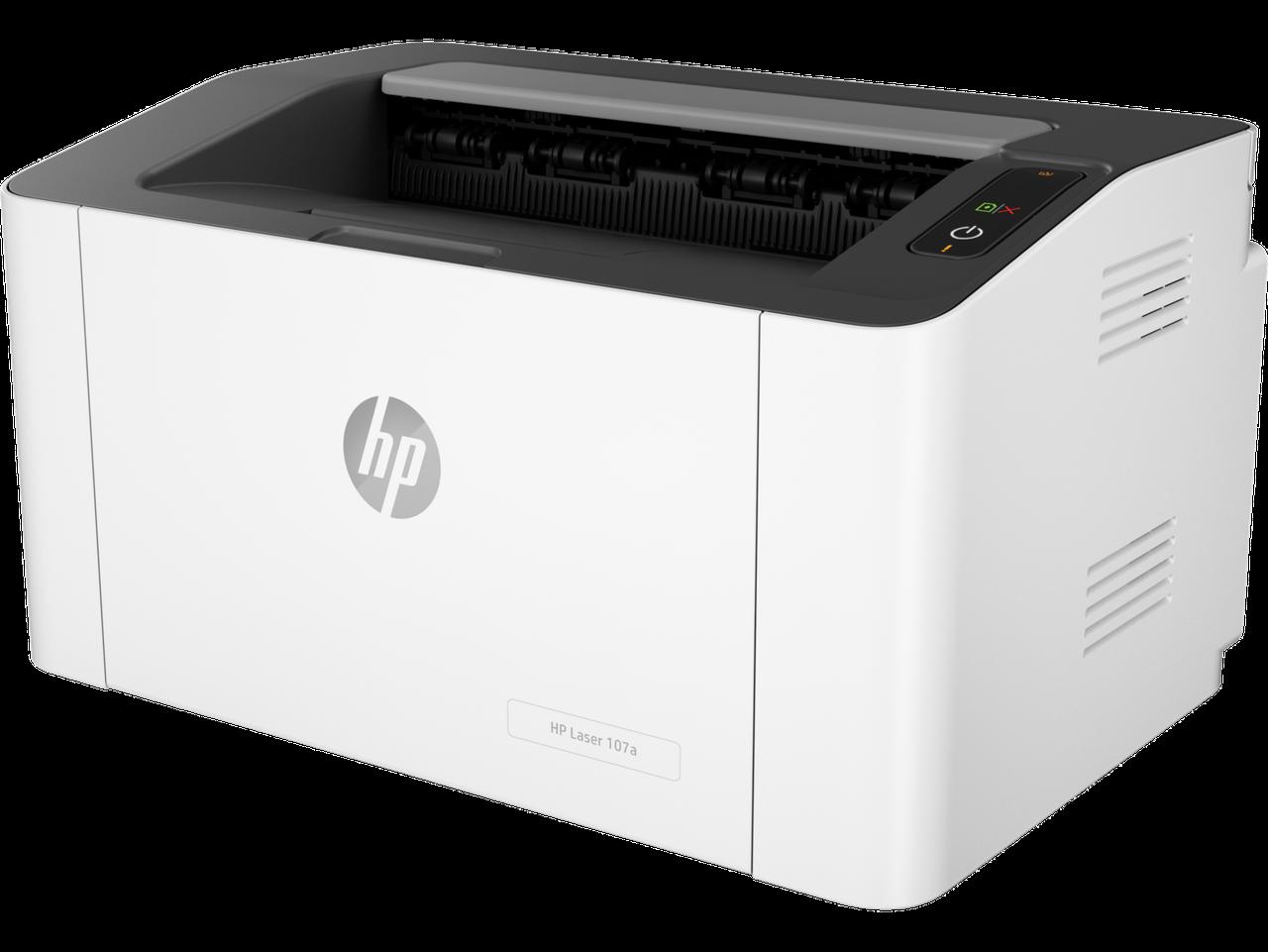 HP 4ZB77A Принтер лазерный черно-белый Laser 107a (A4) 1200 dpi, 20 ppm, 64 MB, 400 MHz, 150 pages tray, USB