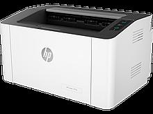 HP 4ZB78A Принтер лазерный черно-белый Laser 107w (A4) 1200 dpi, 20 ppm, 64 MB, 400 MHz, 150 pages tray, USB