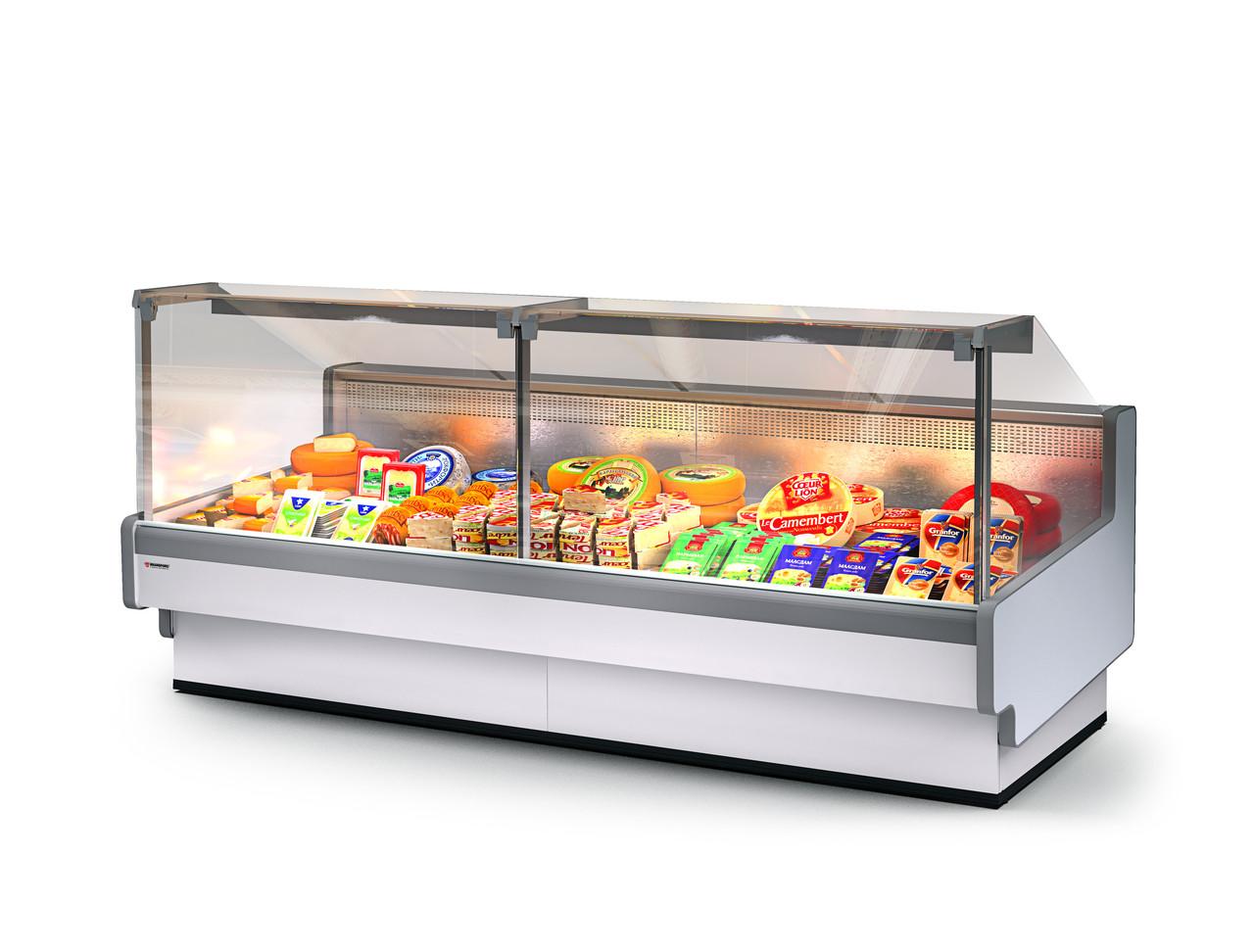 Холодильная витрина Aurora SQ Закрытый угол 90 вентилируемая Self
