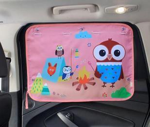 Солнцезащитная автомобильная шторка, цвет розовый