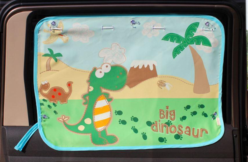 """Солнцезащитная автомобильная шторка,вид """"Динозавр"""""""